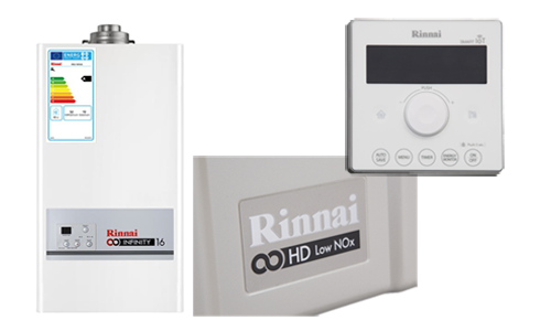 Rinnai 1600i gas fired water heaters