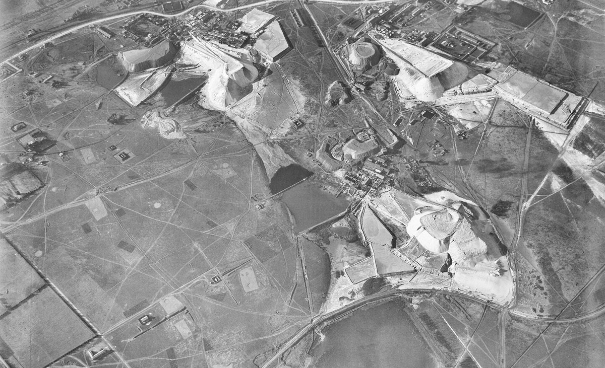 AERIAL VIEW OF MINES